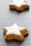 Star-shaped Cinnamon Biscuits Stock Photos