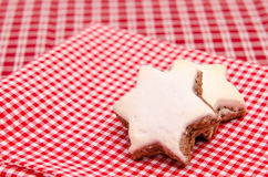 Star shaped cinnamon cookies Royalty Free Stock Photography