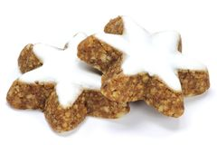 Star-shaped cinnamon cookies Royalty Free Stock Photography