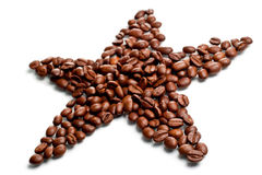 Star shaped coffee beans Stock Image