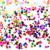 Star shaped confetti Stock Photography