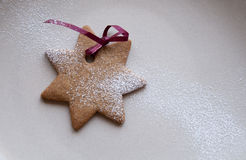 Star shaped cookie Royalty Free Stock Photography