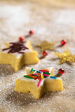 Star Shaped Cookie with Colorful Sprinkles Stock Photography