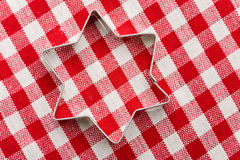 Star shaped cookie cutter Royalty Free Stock Photos