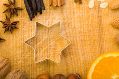 Star shaped cookie cutter Royalty Free Stock Images