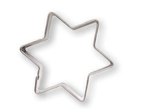 Star shaped cookie cutter Royalty Free Stock Image