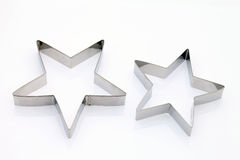 Star shaped cookie cutter. On white background Royalty Free Stock Image