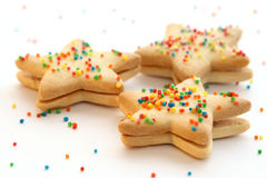 Star shaped cookies Stock Image