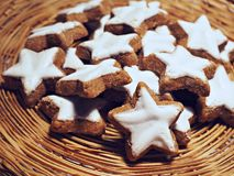 Star shaped cookies stock photography