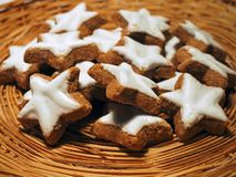 Star shaped cookies stock photo