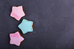 Star shaped cookies Royalty Free Stock Images