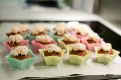 Star shaped cupcakes Royalty Free Stock Photography