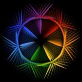 Star shaped design element or banner Stock Image