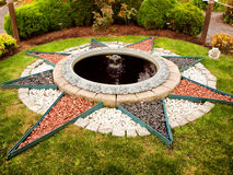 Star shaped fountain Royalty Free Stock Photos