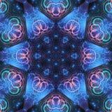 Star shaped fractal mandala Royalty Free Stock Photos