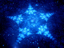 Star shaped fractal in space Royalty Free Stock Photo