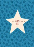 Star shaped frame Stock Photography