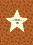 Star shaped frame Stock Images