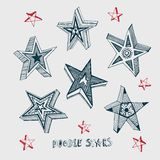 Star shaped frame Royalty Free Stock Images