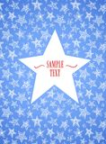 Star shaped frame Royalty Free Stock Image