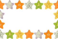 Star shaped fruit and vegetable. On white background Stock Photography