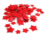 Star-shaped garland. Isolated on a white background Stock Photos