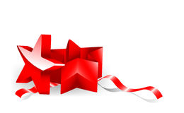 Star-shaped giftbox Royalty-vrije Stock Foto's
