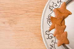 Star shaped gingerbread Royalty Free Stock Image
