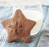 Star-shaped gingerbread cake Stock Photos
