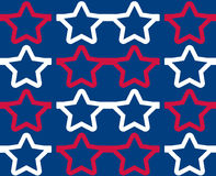 Star-Shaped Glasses Seamless Pattern Royalty Free Stock Photos