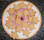 Star shaped hommade Christmas Cookies Royalty Free Stock Image