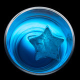 Star-shaped ice Royalty Free Stock Image