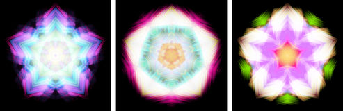Star-shaped kaleidoscope design Stock Photo