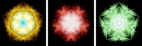 Star-shaped kaleidoscope design Stock Photos