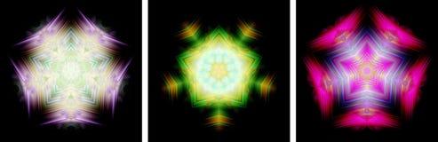 Star-shaped kaleidoscope design Royalty Free Stock Image