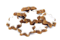Star-shaped kanelbrun kex Arkivfoto