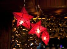 Star shaped lanterns Royalty Free Stock Image