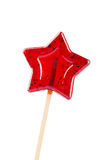 Star shaped lollipop isolated on white Royalty Free Stock Photos