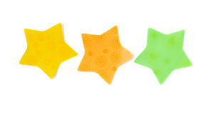 Star shaped notes Stock Image
