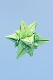Star shaped origami Royalty Free Stock Photo