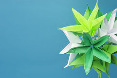 Star shaped origami flowers Royalty Free Stock Photo