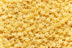 Star shaped pasta pieces Royalty Free Stock Photography