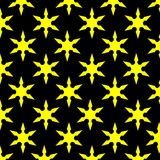 Yellow Star Black Background stock images