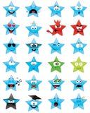 Star-shaped smileygezichten Royalty-vrije Stock Afbeeldingen