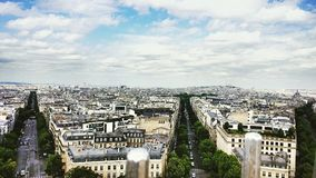 Champs Elysees in Paris, France. Royalty Free Stock Photos