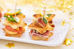 Star shaped toasts . Royalty Free Stock Photography