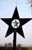 Star shaped Xmas decoration royalty free stock photos