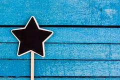 Star shapes blackboard Royalty Free Stock Photos
