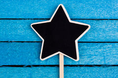 Star shapes blackboard Royalty Free Stock Images