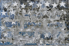 Star Shapes on Grungy Plaster Wall Royalty Free Stock Photography